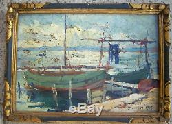 Oil On Panel Signed Edouard Ducros Provençal School 1926