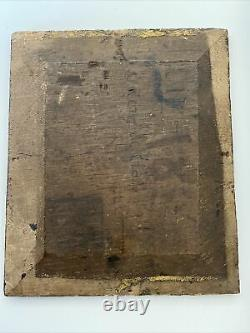 Oil On Religious Wood Coronation Inscription On The Back To Decipher