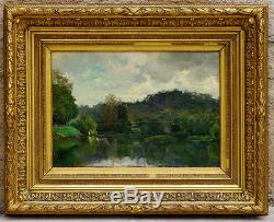 Oil On Wood 19th Impressionist Franche-comté