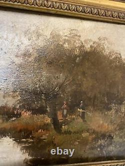Oil On Wood Galien-laloue Signed L. Dupuy 19th