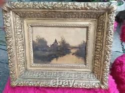Oil On Wood Louis Dupuis Dit Eugene Galien Lalou 1854/1941