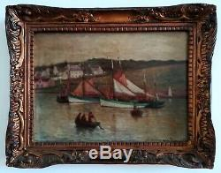 Oil On Wood Panel, Brittany, The French School Furniture