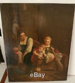 Oil On Wood Panel Nineteenth