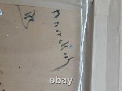 Oil On Wood Panel Signee B Orientalist Retaux Marrakech