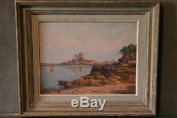 Oil Painting On Panel Brugairolles 1869-1936 Gulf Of Morbihan Brittany