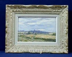 Oil Painting On Wood Beginning 20th Landscape Saint-cyr-sous-dourdan Le Pont Rué