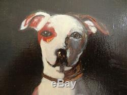 Oil Painting With Its Frame Table Dog Jack Russel