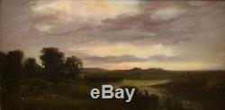 Oil S / Panel. Xix. Henri-arthur Bonnefoy. Landscape Sunset
