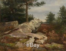 Oil S / Panel. Xix. René Lechenetier. Rocks / Forest Of Adam Island