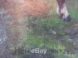 Old Adolph Müller-grantzow Painting (1853-1922) Oil Painting Oil Painting