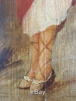 Old Elegant Painting On The Coast Painting Oil Canvas Antique Oil Painting