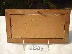 Old Oil On Panel Wood Marine Seaside Signed Gaston Corbier
