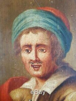 Old Painting Portrait Of A Man In Turban Painting Oil Antique Painting