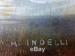Old Table Mimma Indelli (1909-) Oil Painting Antique Oil Painting