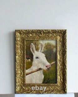 Old Wood Dore Frame Oil Painting On Canvas Ane White