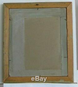 Old Wood Frame Dore Painting Oil On Canvas Lower Court And Rooster