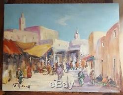 Orientalist Oil On Wood Painting. 27x35 CM