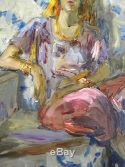 +++ Orientalist Painting Dodonne Barthalot Morocco Portrait Orientalism +++