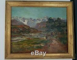 Orientalist Painting. Painting Signed Pinatel Raphael (1875-1933) Asni Morocco