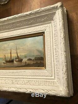 Paint Super Oil Panel A. Wood Marine Signed Budin XIX (no. 1)