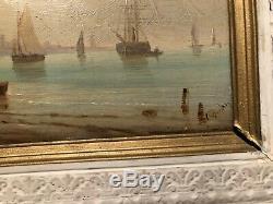 Paint Super Oil Panel A. Wood Marine Signed Budin XIX (no. 2)