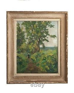 Painting Landscape Underwood And Sea Painting Oil On Canvas Georges Lattes Xxeme