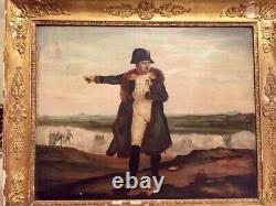 Painting, Napoleon. Oil On Canvas Glued To Wood. Start XLX XX Eme. See Photos