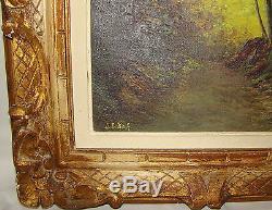 Painting Oil On Canvas Flemish School Underwood Signed Désiré De Buck