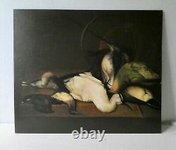 Painting, Oil On Panel, Game Still Life, Signed, 40s