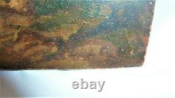 Painting Oil On Panel Wood Signed Painting Table Vecchio Dipinto