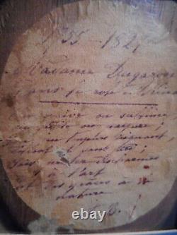 Painting Painting 19 Century Old Woman Madame Dugazon Actress Singer