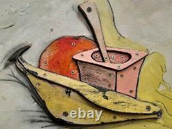 Painting Painting Eric Liot Born 1964 Unique Piece (invader Speedy Jeff Jonone)