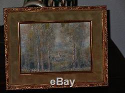 Painting Painting Paul Bocquet Impressionism Landscape Champagne