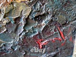Painting Table Old Orientalist Landscape Sea Scene Oil Oil Signed