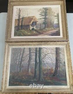 Pair Paintings Oil Painting On Wood 1900, Saint Saëns, Famous Pianist