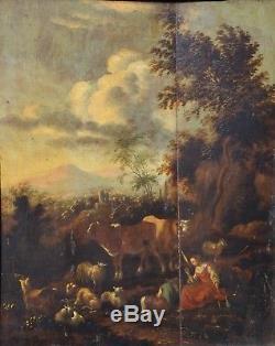 Pastoral Scene, Oil On Panel XVIII