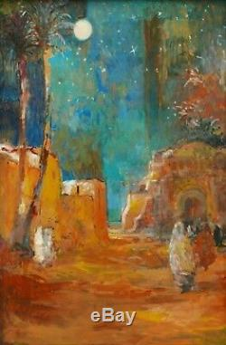Patrice Landauer Oil Painting Orientalist Landscape Oasis Orient Orientalism