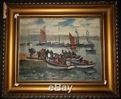 Paul Morchain Britain 1876-1939 Return Fishing 30 Marine Painter Of Marine