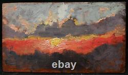 Paul Sieffert Landscape Painting Sun Setting Dusk Study Clouds Oil Art