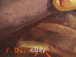 Paule Desnoyer Painting Portrait Maternity Woman Black Creole Antilles Painting