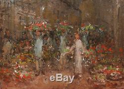 Pierre Chapuis Table Oil Wood Walk To Flowers Paris Post Impressionism