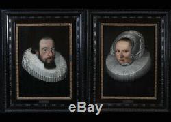 Pieter Van Mierevelt 1596/1623, Pair Of Portraits, 17th Dutch School