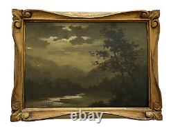 Pol Presson Oil On Wood Var Valley XIX Same Century