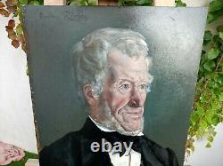 Portrait Dhomme Oil On Wood Panel Signed And Dated/ Theodore River