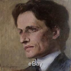 Portrait Of Man Signed G. Lautenschläger (1859-1945) -ca 1900-oil On Panel