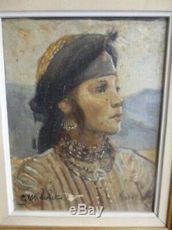 Portrait Orientalistede Kurdish Georges C. Michelet 1873