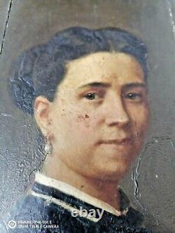 Portrait -oil On Wood Early XX