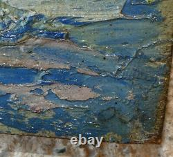 Powerful Impressionist 1900. Seaside Landscape In The South. Signed
