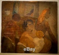 Rare. Great Huille Panel. Theodore Koenig. Belgian Surrealist