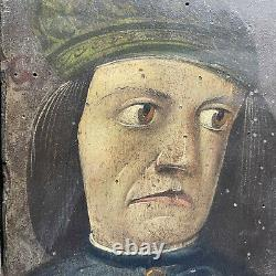 Rare Paintings Series Of Grotesque Portraits Germany 19th Oil On Panel